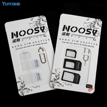 300set/lot Noosy Nano SIM Card Micro SIM Card to Standard Adapter Adaptor Converter Set For Mobile Phone with Eject Pin Key(China)