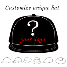 1PCS Personalized Snapback Cap Custom Baseball Hat trucker cap Adult Children size Embroidery Logo Text snapback style hat(China)