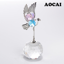 AOCAI Crystal Bird decoration Room office desk Decoration Home Furnishing ornaments Small gift Crystal Crafts Wholesale