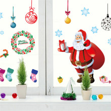 Merry Christmas Gift Xmas Tree Santa Claus PVC Removable Display Window Showcase Decor Home Kid Room Nursery Wall Stickers Decal