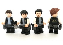4Pcs policemen original Block toys City swat gun police military lepin weapons model accessories Compatible lepin mini figures