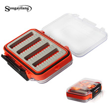 New Arrival Double Side Open Fly Fishing Box Lure Bait Hook Cases ABS Plastic Tackle Boxes Slid Foam Insert Hold Flies Box(China)