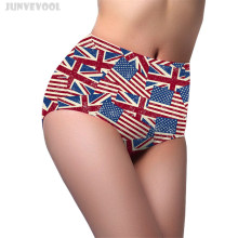 Buy Briefs Women Panties US Flag Print Seamless Ladies Womens Briefs Pants Knickers Underwear High Waist Stretch Sizes Underpants