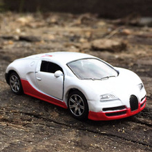 1:64 Alloy car model kids toys Bugatti Veyron Super sports car Children like the gift Family Collection Decoration