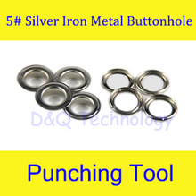 5# Silver Iron Grommet Eyelet  for Manual Eyelet Puncher  Hand Press Puncher Grommet for Flex Banner 500set/pack