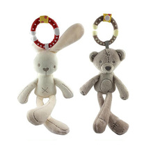 New Arrival Mini Cute Soft Bunny Sleep Rabbit & Bear Appease Doll Lovely Baby Plush Toys Kids Bed hanging(China)