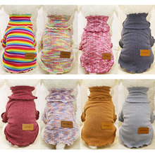 Classics Pet Dog Clothes Warm Striped Sweater Pet Puppy Coats Clothes For Small Dog Outfit Teddy Chihuahua Winter Sweater 20S2Q(China)