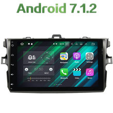 2GB RAM 16GB ROM Android 7.1.2 Quad Core 2 Din LCD Touch screen car radio player Bluetooth for Toyota COROLLA 2006-2011(China)