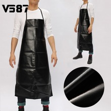 Waterproof Leather Chef Apron Restaurant Home Cooking Bib Apron Durable Sleeveless Apron for Men Household Tools