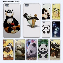 cute baby Kung Fu Panda anime hard transparent phone Cover Case for huawei P9 P8 Lite P9Plus P7 Mate 9 Mate S 8 7(China)
