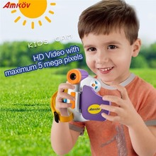 AMKOV 1.5 Inch Color Screen Mini Children Kids Camera 5 Megapixel High-definition Children Funny Camera Support Network Camera(China)