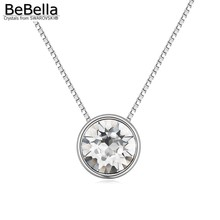 BeBella new small XIRUS Chaton stone pendant necklace made with Crystals from Swarovski with thin chain popular women gift