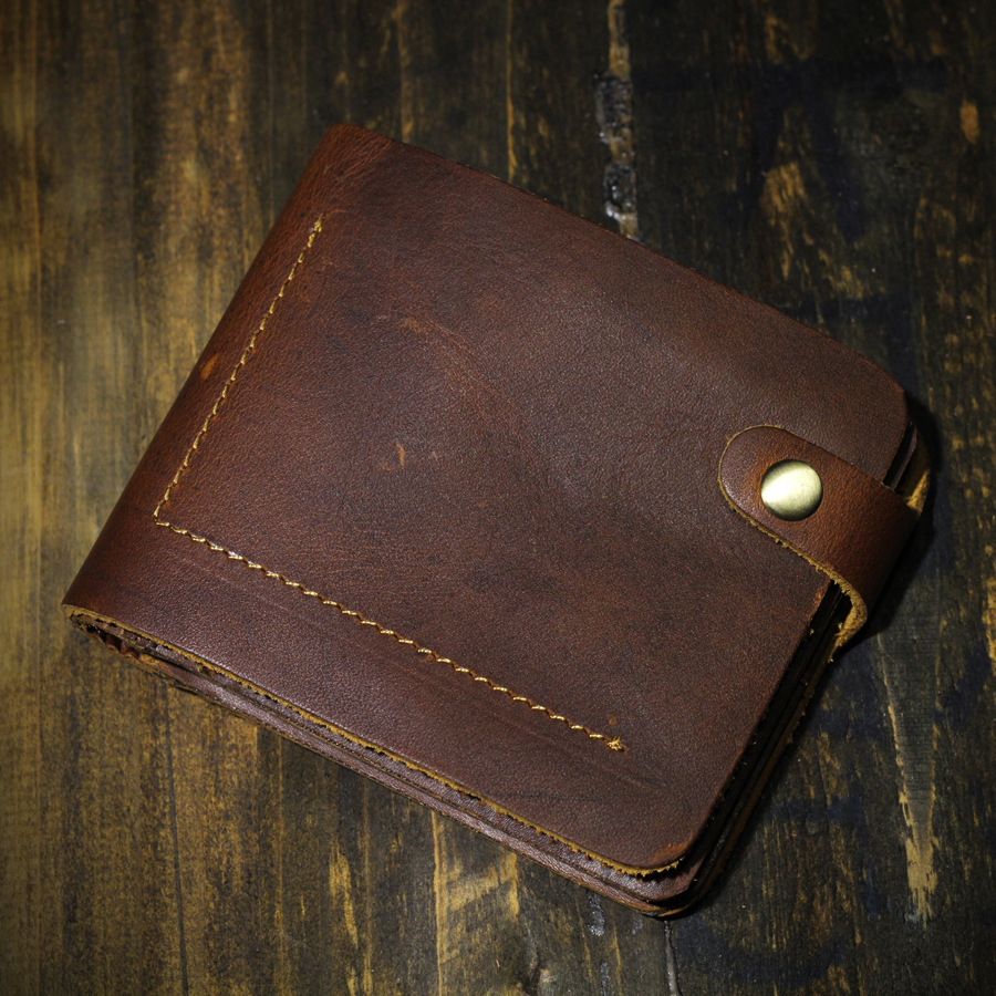 Luxury Handmade Men Wallets Crazy Horse Leather Brand Clutch Wallet Natural Cowhide Waxed Vintage Mens Money Bag Brown<br><br>Aliexpress