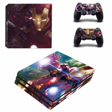 Iron Man  Vinyl Decal PS4 Pro Skin Stickers for Sony PlayStation 4 Pro Console and 2 Controllers Decorative Skins