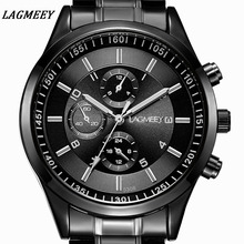 Men's Watch Waterproof Sport LAGMEEY Quartz Watches Business Fashion Military Wristwatches Male Clock Relogio Masculino