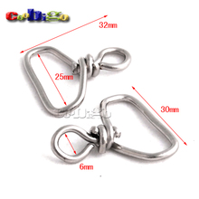 "25pcs Pack 1"" Metal Swivel Connecter Hanger For Snap Hook Paracord Lanyards Keychain Outdoor Activities Accessories #FLQ131-C(China)"