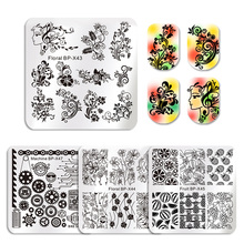 BORN PRETTY Square Nail Art Stamp Floral Rose Template Fruit Gorgeous Flower Vine Leaves Manicure Nail Art Image Plate(China)