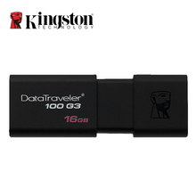 Kingston USB Flash Drives 16GB 32GB 64GB 128GB USB 3.0 Pen Drive Plastic Sleek Memory Memorias Disks P DT100G3