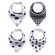 Baby Bandana Drool Bibs for Drooling and Teething 4 Pack Gift Set For Girls and boys