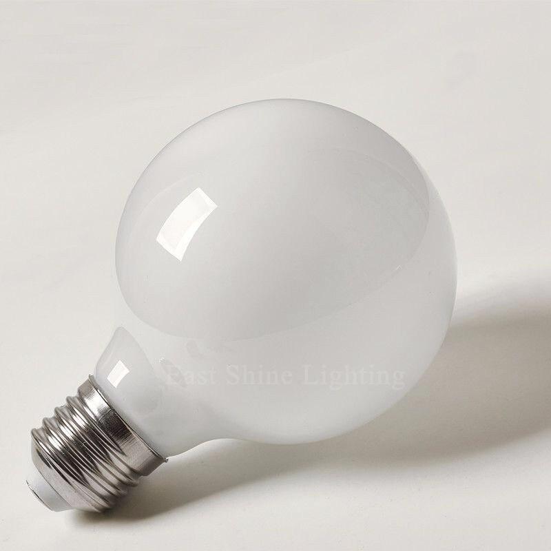 2016 Milk White LED Bulbs Light G80 G95 G125 E27 Retro For Filament Light Vintage Globe Lamp Glass  Antique Led Bulb For Home (1)_