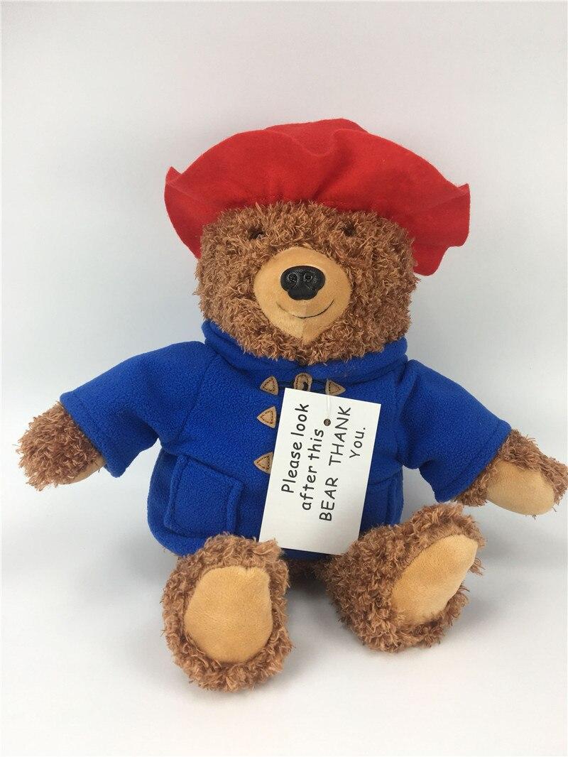 2018 New Cute Teddy Bear Plush Toys Movie Cartoon Bear with Red Hat Dolls Kids Friends Birthday Gift 35cm  (2)