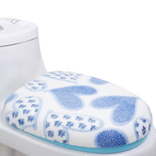 2pcs/set bathroom set toilet set cover wc seat cover bath mat holder closestool lid cover Toilet seat cushion decoration home(China)