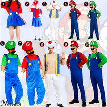 Kids Boys Adult Super Mario Bros Costume Cosplay Halloween Costumes Fantasia Disfraces Game Uniforms
