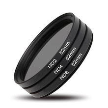 3pcs/lot 52mm  Neutral Density ND Filter Set ND2 ND4 ND8 Filter Kit for Canon EOS 7000 5100 5200 3100 3200 X for Nikon For Sony