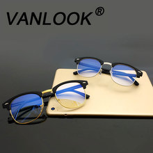 Computer Glasses Transparent For Women Men Spectacle Frame Anti Blueray Clear Fashion Eyeglasses Oversize Oculos de Grau(China)