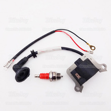 Ignition Coil + Spark Plug L7T Red for 33cc 43cc 49cc Mini Moto Dirt Super Pocket Bike ATV Quad Goped Scooter Minimoto Go Kart