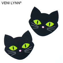 Buy VENI LYNN 5 Pairs Cat Head Luminous Female Sex Nipple Cover Pasties Stickers Breast Ladies Onlays Tape Shield Stickers Women