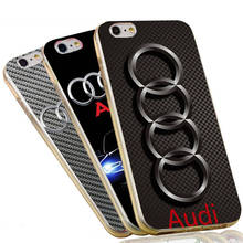 Custom Car Logo Soft TPU Silicon Phone Case Cover For Apple iPhone 4 4S 5C 5 SE 5S 6 6S 7 Plus Audi Case