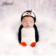 Newborn Photo Wraps Swaddle Cartoon Animal Baby Hat Newborn Sleeping Bag Baby Photography Accessories Infant Outfit(China)
