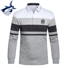 New Arrival Tace & Shark Polo Shirt Men Long Sleeve High Quality Smart Casual Cotton Lapel camisa polo homme Men's Polos Brands(China)
