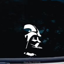 Darth Vader die cut Car sticker vinyl FUNNY decal for windows, cars, trucks, tool boxes, laptops, MacBook 6'' TALL