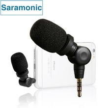 Saramonic iMic Flexible Condenser Microphone Mic with High Sensitivity for IOS iPad iPhone 5/6/7 iPod Touch Android Smartphone