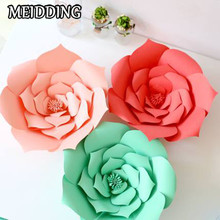 MEIDDING-1pcs diy Paper Flower Backdrop, Wedding Backdrop, 30/40cm Paper Flowers Kid's Birthday Party home room Decor
