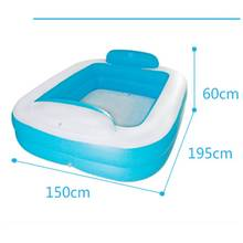 Super Large Couple Adult PVC Portable Folding Inflatable Bath Tub with Air Pump for Couple Bathing(China)