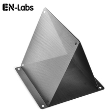 En-Labs 5pcs/lot 12CM Computer Mesh Black PVC PC Case Fan Cooler Dust Filter Dustproof Case Cover,120x120mm(China)