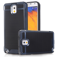Case For Samsung Galaxy Note 3 N9000 Luxury Brushed PC+TPU Chrome Hard Phone Cases Cover w/Screen Protector Film(China)