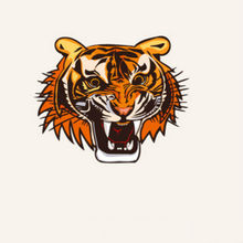 HQ03 Affix the decorative personality tiger head thermal transfer offset transfer DIY crafts clothes paste patch cloth applique