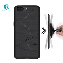 NILLKIN one plus 5 case cover + Receiver QI Wireless Charging Receiver Back Cover Compatible Magnetic Phone Holder oneplus 5(China)