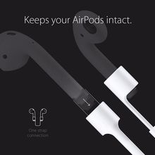 Vococal Anti Lost Silicone Strap Loop Cable Cord String Rope for Apple Airpods Air Pods Wireless Headphone Earpods Accessories