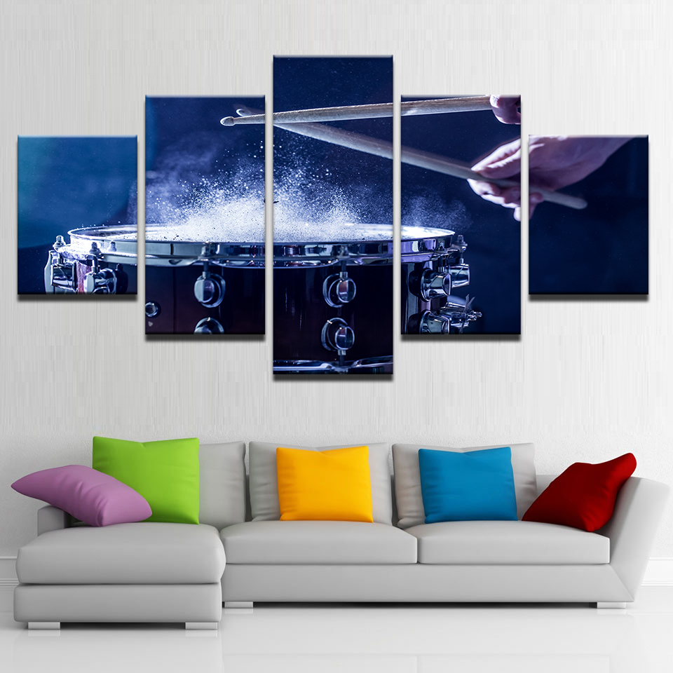 Wall-Art-Canvas-Paintings-Modular-Home-Decor-HD-Prints-5-Pieces-Drums-Pictures-Musical-Instruments-Posters (2)