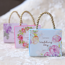 50pcs/lot portable box tote wedding supplies candy bags Candy BOXGift Boxes Wedding Party Favor Decoration Free shipping