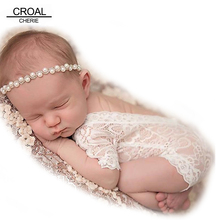 Fashion Newborn Lace Romper Baby Clothes Black White Newborn Photography Props Baby Girls Jumpsuit Infant New Born Clothing