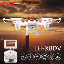 LH-X8 LH-X8C LH-X8DV RC Quadcopter 2.4GHz 4CH 6-Axis Helicopter 3D Flip One Key Return Drone with FPV Camera Cool LED Light toys