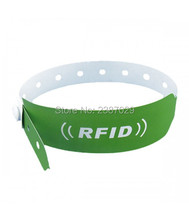 Customized Printing 125khz RFID TK4100 Disposable Paper ID wristband for Hospital