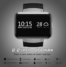 "DM98 Smart Watch Android 5.1 MTK6572A 2.2"" Display 320*240 LED Dual core 1.2G 900Mah Camera WIFI 3G QQ GPS App For Smartphone"