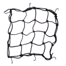 Motorcycle Bike 6 hooks Hold down 30 x 30cm Mesh Net Bag Luggage Cargo Mesh Helmet Net Holder Net Mesh Car styling Accessories(China)
